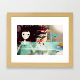 Light and Transparency illustration The Moon Framed Art Print