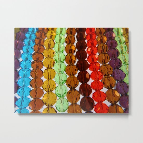 Purty Crystal Beads 2 Metal Print