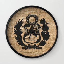 Peru Rustic Shield Wall Clock