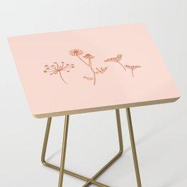 Wildflower Line Art Side Table