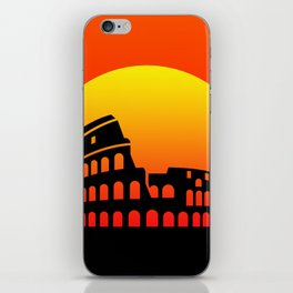 Sunset and colosseum in a red sky iPhone Skin