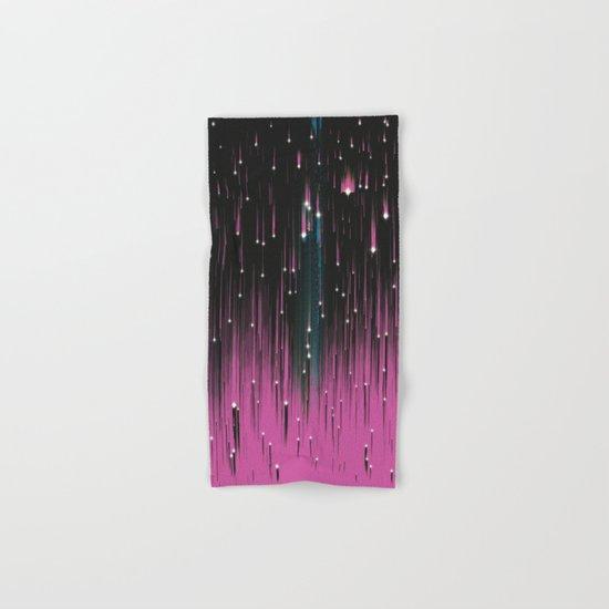Pink Meteors Hand & Bath Towel