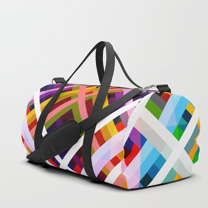 Colorful Abstract Symmetric Grit Art - Ratatoskr Duffle Bag