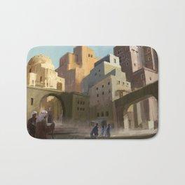 Fantasy Moroccan City Bath Mat