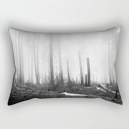 Mist at Sequoia National park Rectangular Pillow