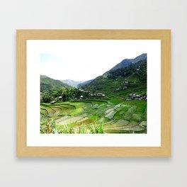 Batad Rice Terraces on top Framed Art Print
