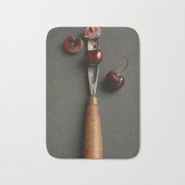 Cherries and Vintage Chisel Bath Mat