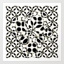 black and white circles in squares by hennigdesign