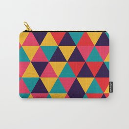 Colorful Triangles (Bright Colors) Carry-All Pouch