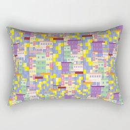 Building Pixel Blocks Rectangular Pillow