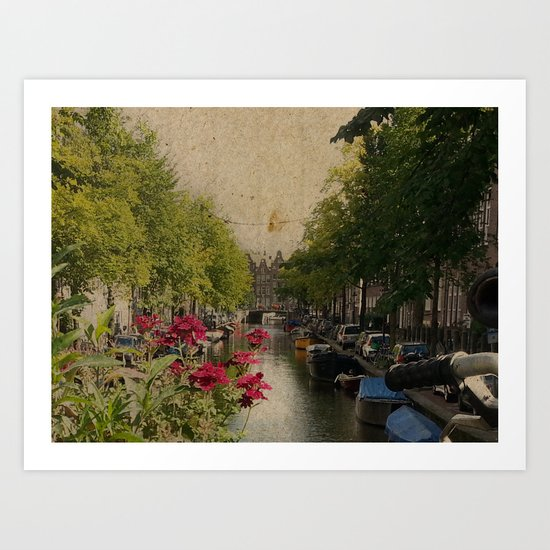 Amsterdam mon amour Art Print