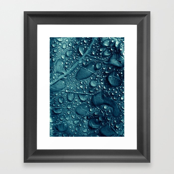 blue water XVI Framed Art Print