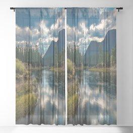 Snake River Revival - Morning Along Snake River in Grand Tetons Sheer Curtain