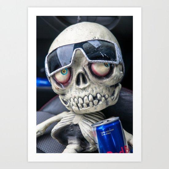 Skeleton Man Art Print