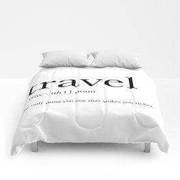 Travel Definition Comforters