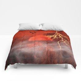 Red moon Comforters