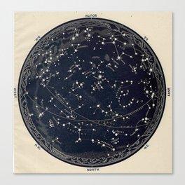 Constellation Chart Canvas Print