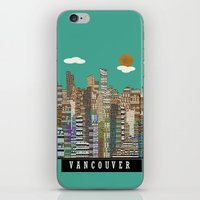 vancouver iPhone & iPod Skins featuring Vancouver skyline by bri.buckley