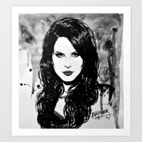 lana Art Prints featuring Lana by Louise des Jam