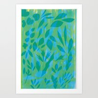 Wonder leaves Art Print
