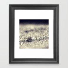Silver Drop Framed Art Print
