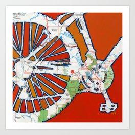 Bike Moab Art Print