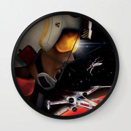 Luke, Yavin patrol, Red Five Wall Clock