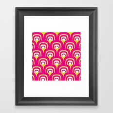 Mod Rainbow Framed Art Print
