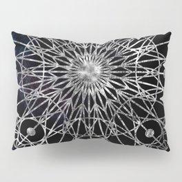 Rosette Window - Black Pillow Sham