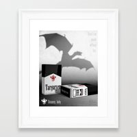 targaryen Framed Art Prints featuring Targaryen Cigarette Ad by P3RF3KT