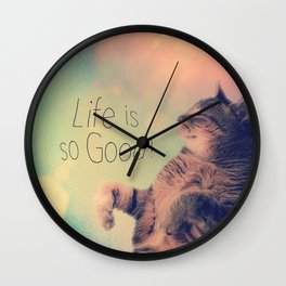 Dancing Kitty Cat Wall Clock