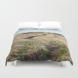 Oregon Dune Grass Adventure - Nature Photography Duvet Cover