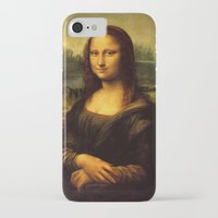 mona lisa iPhone & iPod Cases featuring Mona Lisa by Elegant Chaos Gallery