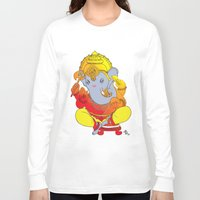 ganesh Long Sleeve T-shirts featuring Ganesh  by xDiNKix