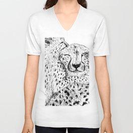 Cheetah hug Unisex V-Neck