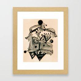 Design with black ink #1 Framed Art Print