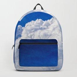 White Cumulus Clouds In The Blue Sky Backpack