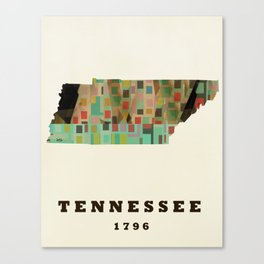 Tennessee state map modern Canvas Print