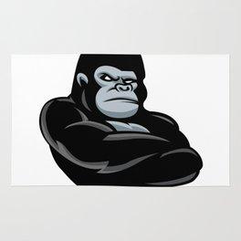 angry  gorilla.black gorilla Rug