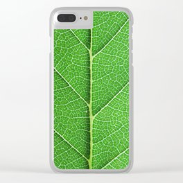 Green Vein Life Clear iPhone Case