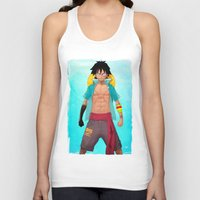 luffy Tank Tops featuring Luffy by Yvan Quinet