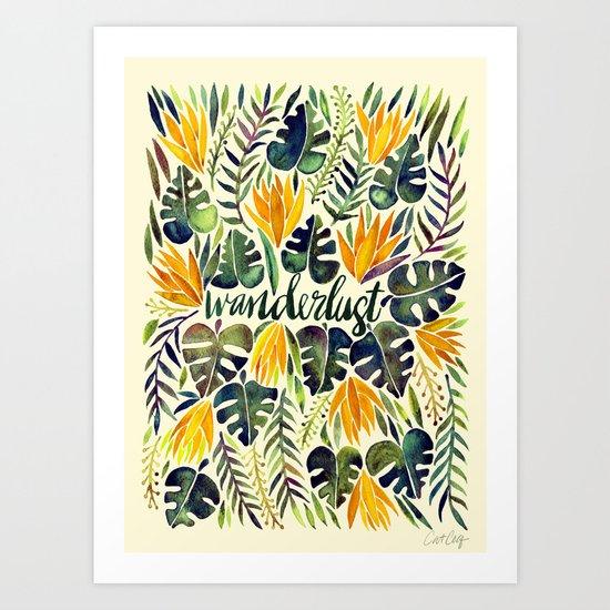 Tropical Wanderlust – Orange & Emerald Art Print