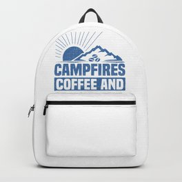 Hiker Campfires Coffee Long Hikes Backpack
