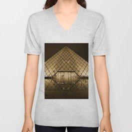 louvre glass pyramid paris pyramid Unisex V-Neck