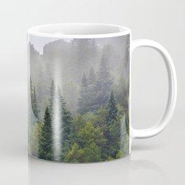 """Dream forest"" Endemig trees into the fog Coffee Mug"