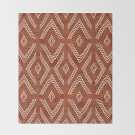 Birch in Rust Throw Blanket