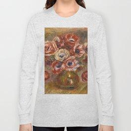 """Auguste Renoir """"Anémones dans un vase"""" Long Sleeve T-shirt"""