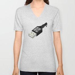 Digital detox Unisex V-Neck