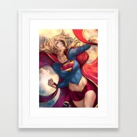 karu kara Framed Art Prints featuring Kara Soars by Reza Kabir