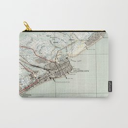 Vintage Map of Atlantic City NJ (1941) Carry-All Pouch